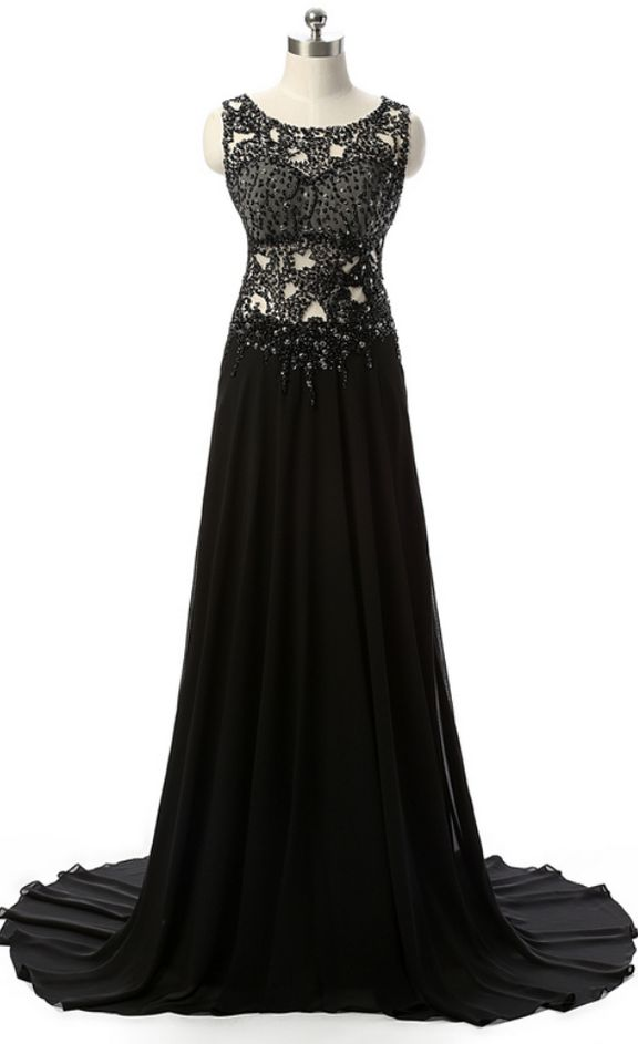 The long black evening gown a line, the key type was the Bal dress foil intermittently back to silk evening dress festival dress