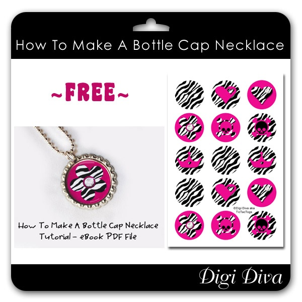 Bottle cap necklaces fun things to do with kids for How to make things with bottle caps