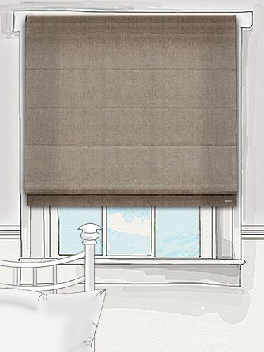 this plainly woven mid brown roman blind has a little richness to it, think of strong latte or light taupe... #roman #blind