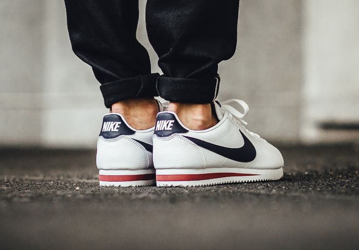 The Nike Cortez Leather USA is showcased in more images. Find the sneaker at select Nike stores worldwide now.