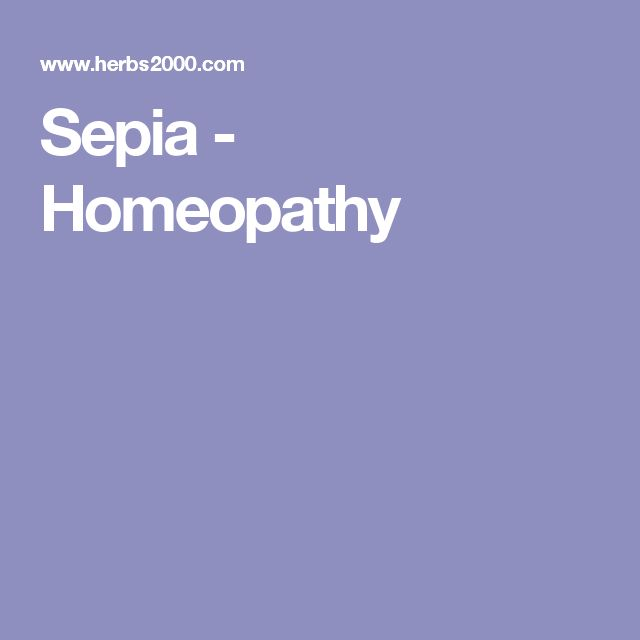 Sepia - Homeopathy