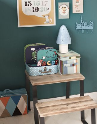 Wonderfull mibo 123 print and Paper & Cloth cards and love the pertrol wall color