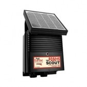 The Field Guardian Scout solar energizer is a 0.15 joule model designed for remote areas, or for when not wanting to recharge the battery regularly. Electrifies up to 25 acres or 10 miles of multi-wired fencing.