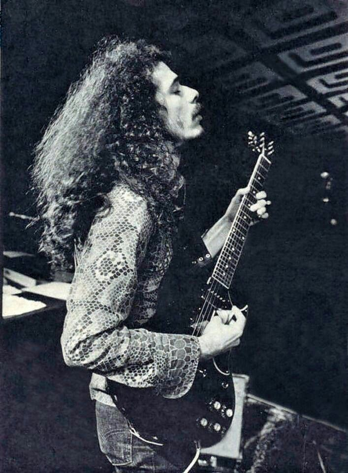 Carlos Santana in 1972 his avid passion towards the alchemy of music not just as a sound but a message of fire, love, & peace within shows what true art is or can be.