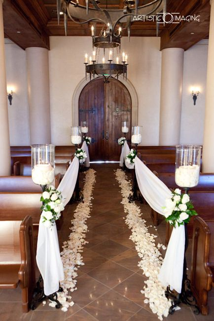 Simple wedding decorations for a church weddings pinterest for Simple reception decoration