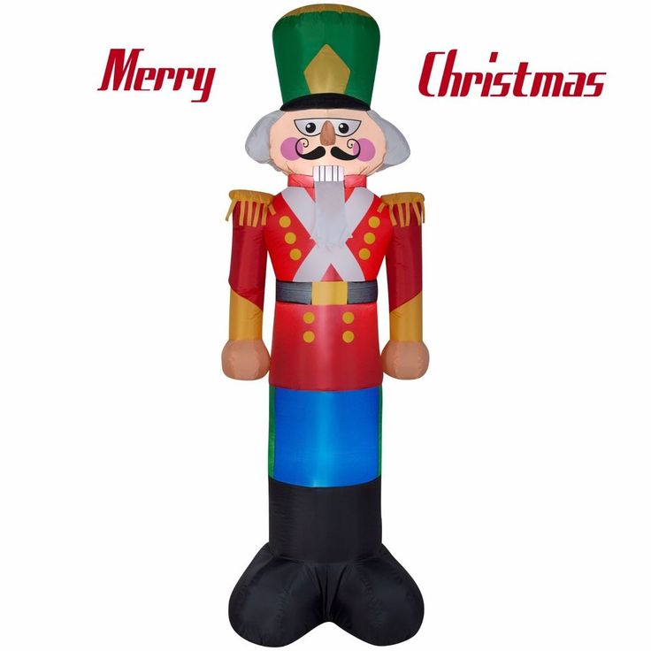 7Ft Tall Christmas Nutcracker Soldier Holiday Inflatable Airblown Figurine Decor #Unbranded