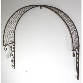 marquise dessus de porte arche en fer jardin entr e. Black Bedroom Furniture Sets. Home Design Ideas