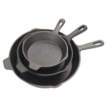 Found it at Wayfair - 3 Piece Cast Iron Skillet Set in Black