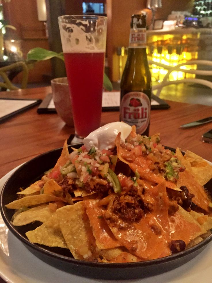 Nachos & Fruli Strawberry Beer.. A perfect combo ⭐️⭐️⭐️⭐️⭐️ #jakarta