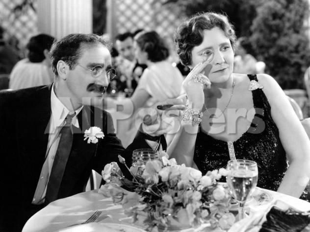 A Night At The Opera, Groucho Marx, Margaret Dumont, 1935 Movies Photo - 61 x 46 cm