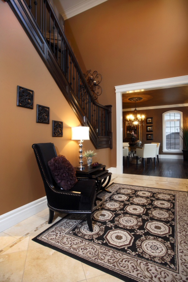 love the wall color with the dark contrast residential gallery urban home windsor interior
