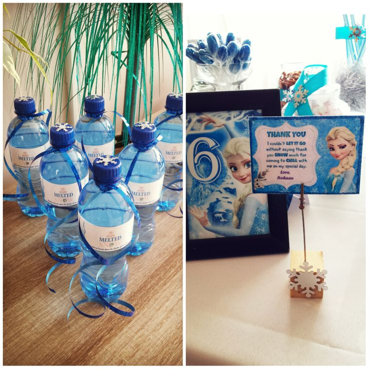 frozen themed birthday party deco #meltedsnow