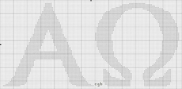 Free Christian Symbols Counted Cross Stitch Charts: Free Alpha and Omega Cross Stitch Pattern