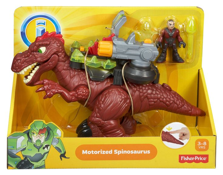 Amazon.com: Fisher-Price Imaginext Motorized Spinosaurus: Toys & Games