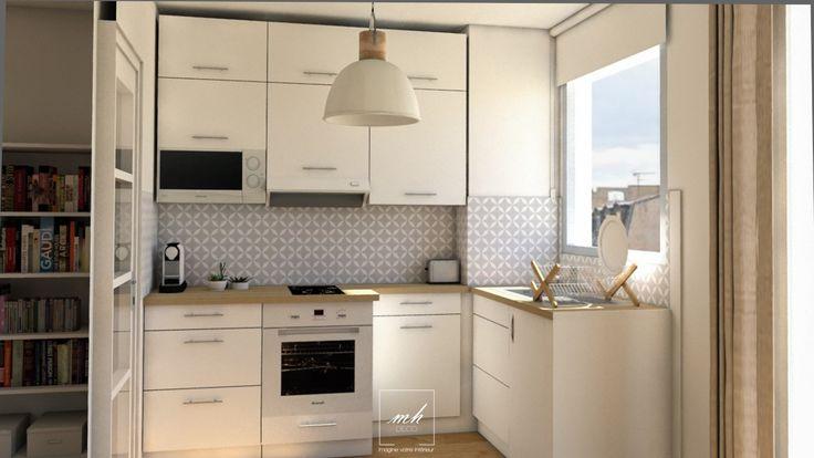 Dans une ambiance #scandinave, en respect avec les exigences de nos clients, Eloïse revoit l'aménagement de la partie cuisine.