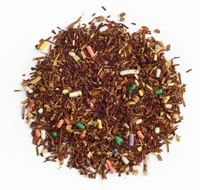 BIRTHDAY CAKE.  With vanilla icing, and lots of sprinkles. And this sweet and festive rooibos blend brings the taste of birthday cake to your cup any day of the year – sprinkles and all. Best of all, not only is it low in calories, it also has all the goodness of rooibos.