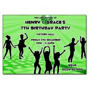 Green Disco Invitation | Disco Party Invites