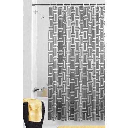 Mainstays Prima Grey PEVA Shower Curtain. Shower CurtainsWalmart
