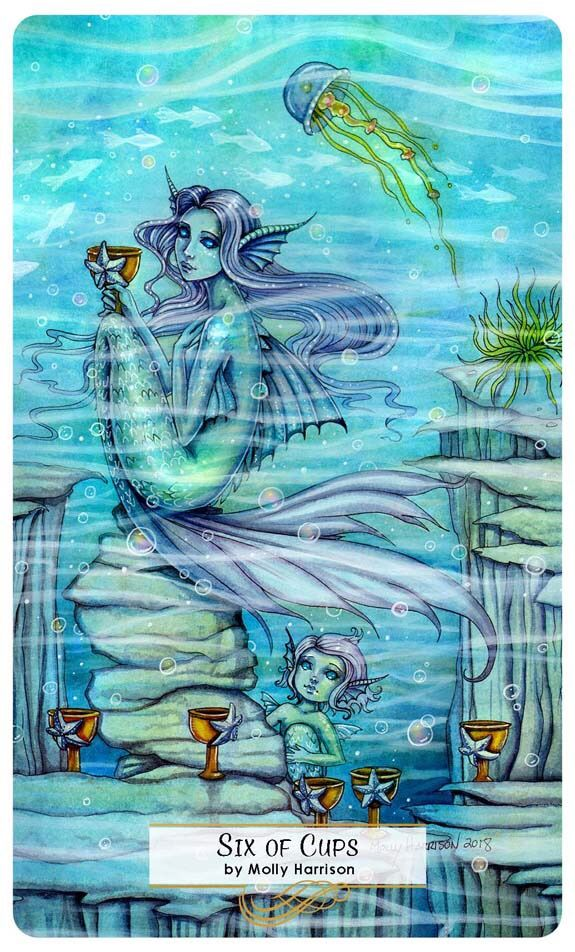 Card of the Day - 6 of Cups - Tuesday, March 6, 2018
