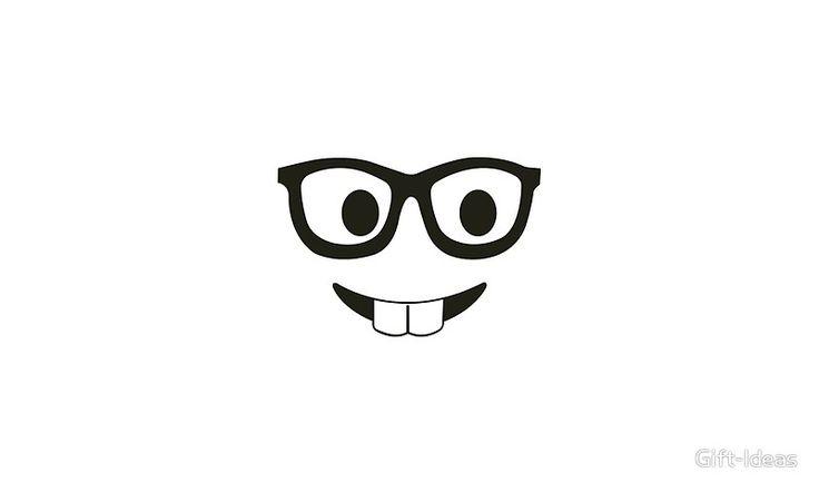 Smart Nerd Glasses Emoji Teacher Scientist - Gift Idea for Women Men Boys And Girls