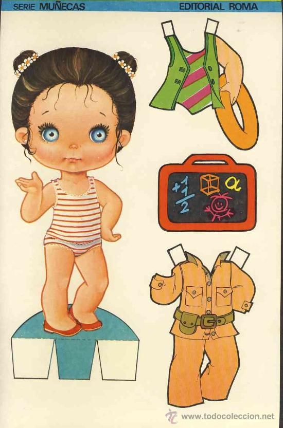 Coleccion completa 10 recortables muñecas EXTRA RECORTE Ed.Roma. Doble hoja cartulina (v.fotos adic) - Foto 2