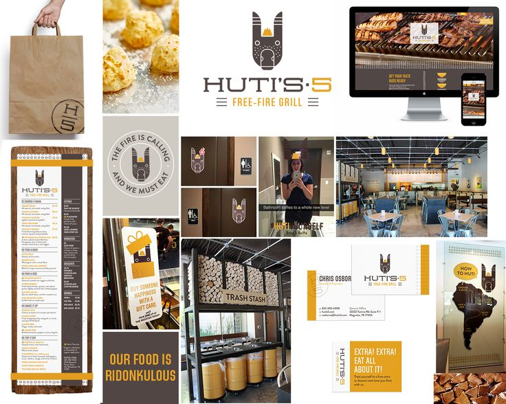 Brand strategy and design for local restaurant. Menu design, business card…