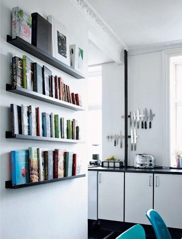 open shelves for cooking books (via Femina)