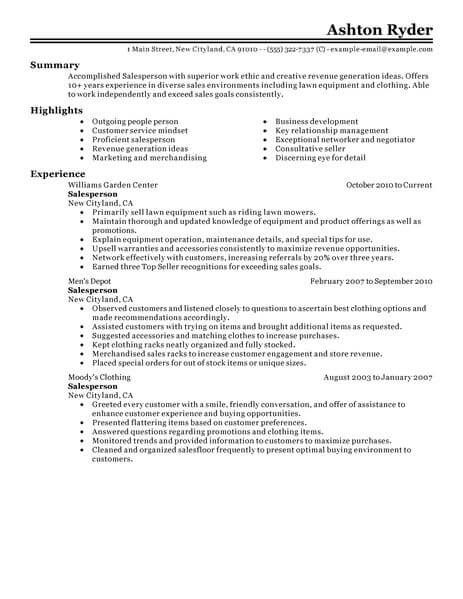 Retail Resume Templates Pinterest Resume examples