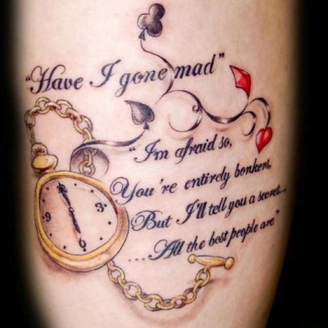 Alice in wonderland side tattoo http://pinterest.com/treypeezy http://twitter.com/TreyPeezy http://instagram.com/OceanviewBLVD http://OceanviewBLVD.com