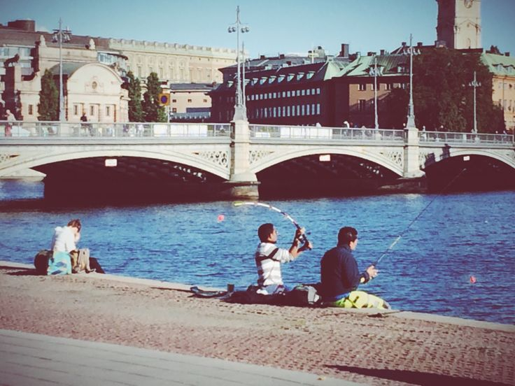 Fishing in Stockholm.