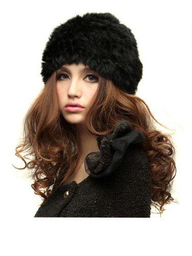 Winter Women Rabbit Fur Hat Knit Cap Handmade Warm Fashion Vivi Recommend Hat 7 Colors $13.99 (save $6.00)