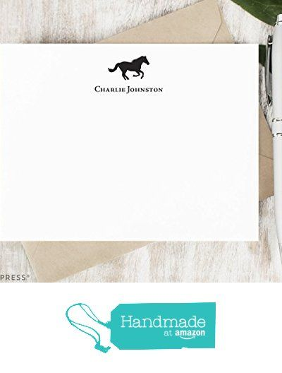 HORSE - Personalized FLAT Stationery Set - Silhouette Horse Note Cards and Envelopes, Professional Classic Custom Stationary Notecards, Men or Women Equestrian from Curio Press https://www.amazon.com/dp/B01N05RCH2/ref=hnd_sw_r_pi_dp_T9jpybY5KYPCT #handmadeatamazon