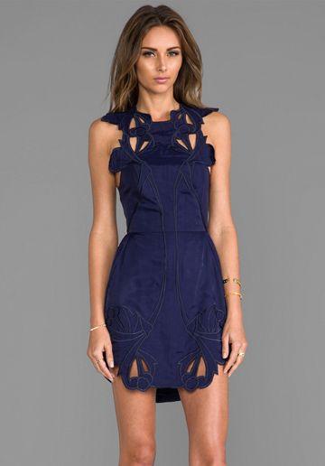 ALICE MCCALL Sea Rose Dress in Navy - Dresses