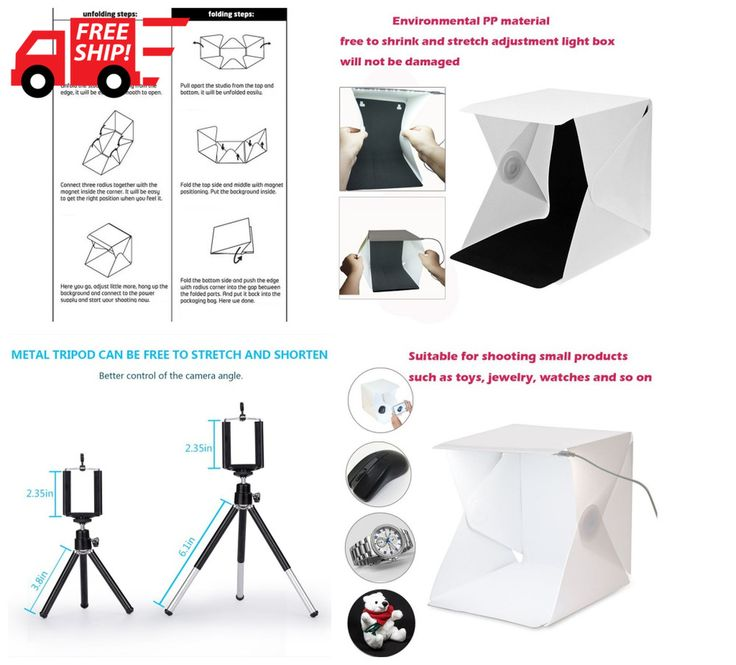 "HOT! Portable Photo Studio 9.6"" Photography Light Box Foldable Shooting Tent 2 C #Sruim"
