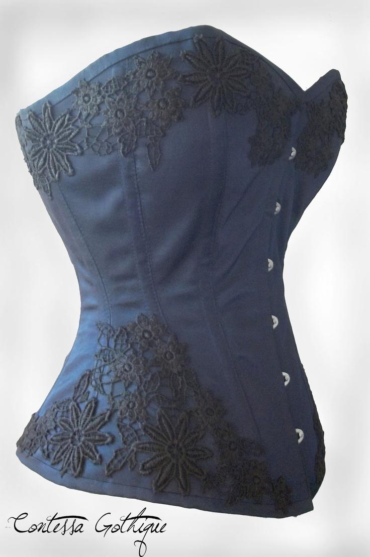 blue corset with lace cute little fashion corset
