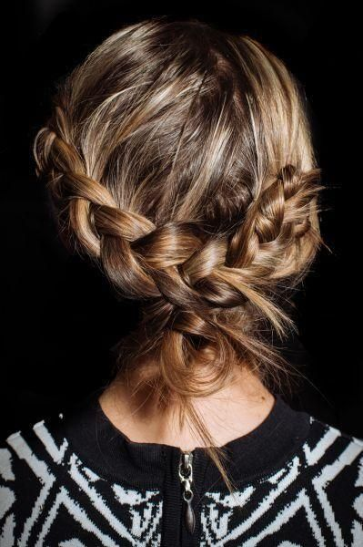 Loose braided back.