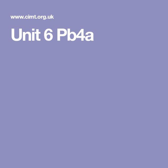 Unit 6 Pb4a
