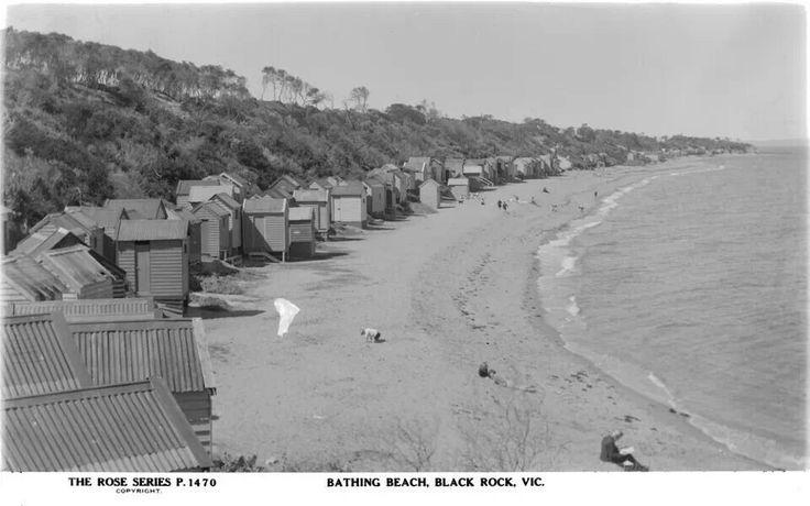 Bathing beach Black Rock,  Melbourne suburb