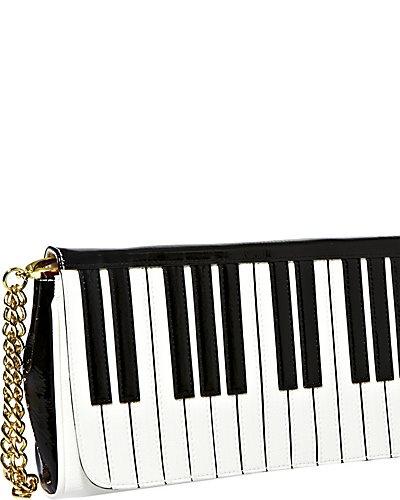 Betsey Johnson - PIANO WRISTLET BLACK-WHITE #bag #purse #fashion