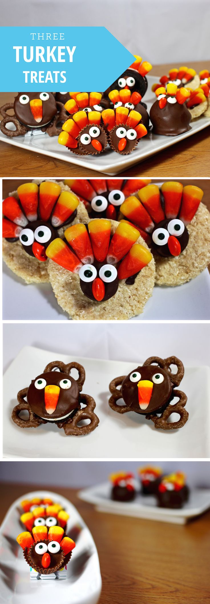 For those of you staying on campus, have no fear — staying on campus doesn't mean you can't celebrate Thanksgiving in style. These treats are easy enough to make in a dorm room, but also cute enough to share with family and friends at home.