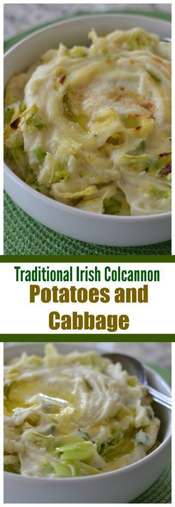 Traditional Irish Colcannon Potatoes and Cabbage | Potatoes and Cabbage | Irish recipe | St. Patrick's Day recipe | Mashed Potatoes