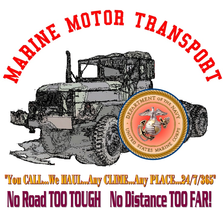 A custom t shirt design for a marine shipmate who was in for Marine corps motor t