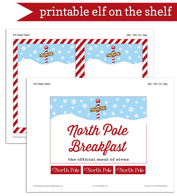 Exclusive Free Printables Christmas Printables Elf on the shelf