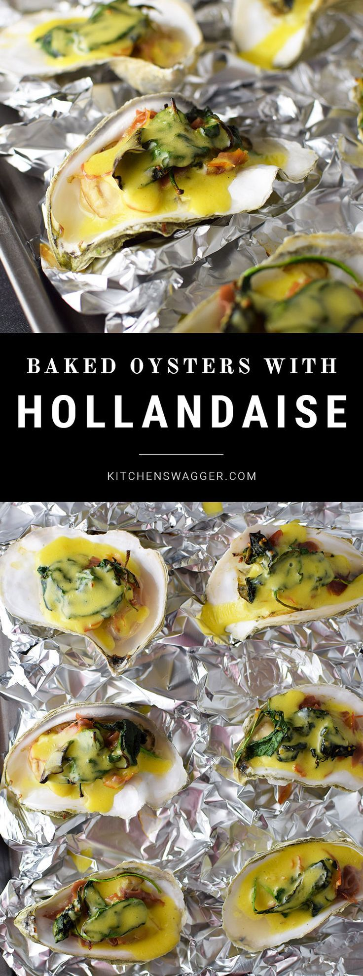 Baked oysters with prosciutto and hollandaise sauce is the perfect fresh and delicious app for any party or special occasion.