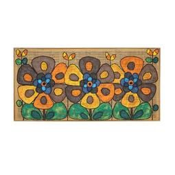 Flower Power Oil Painting  Vintage 1960s Danish Wall Art Painting  This mid century flower power oil painting on burlap has a wood frame, and is easy to hang. An awesome piece of Danish retro art. Ready for pick up delivery, or shipping anywhere in the world.
