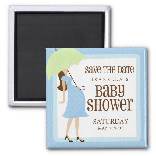 blue baby shower save the date magnet blue baby showers save the date