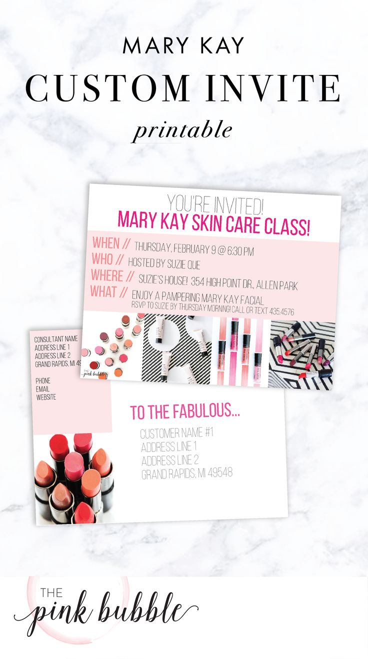23 best images about Mary Kay Invitations – Mary Kay Party Invitation