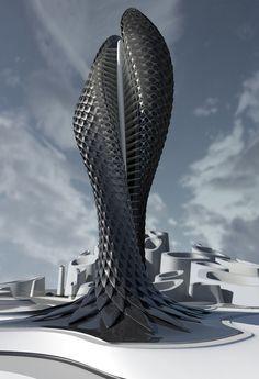 Tower Study by Daniel Widrig, dalle forme della natura al #design futuristico. #architecture