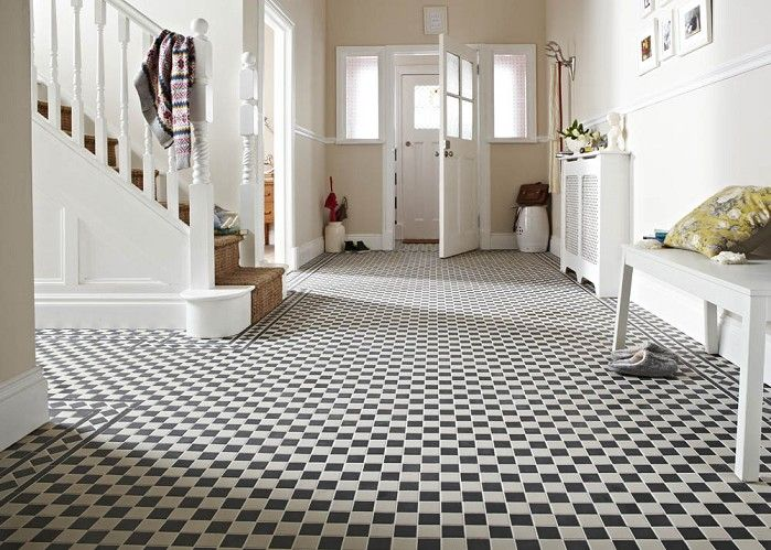 Victorian Black/White Chequer tiles from Topps Tiles