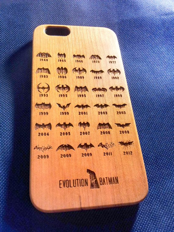 Batman Badge Wood Phone Case  Laser Engraved Wooden by Case4YouBB6